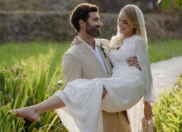 Brody Jenner e Kaitlynn Carter se casam  (Foto: Mitch Pohl)
