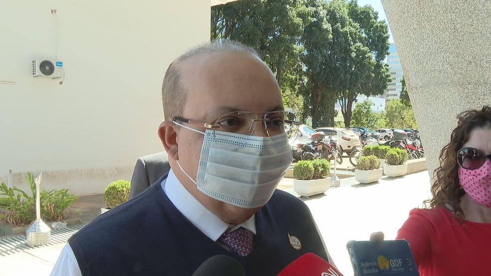Governador Ibaneis Rocha — Foto: TV Globo/Reprodução