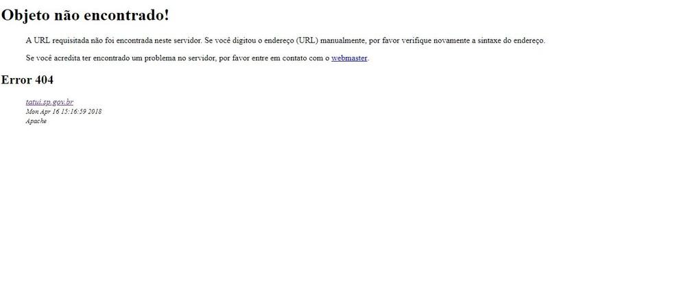 Site da prefeitura de Tatuí foi invadido e fica fora do ar (Foto: Reprodução/Site prefeitura de Tatuí)