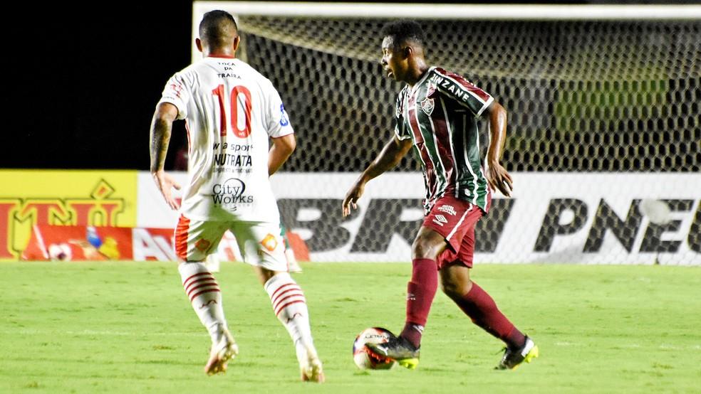 Wellington em ação pelo Fluminense, contra o Bangu — Foto: MAILSON SANTANA/FLUMINENSE FC