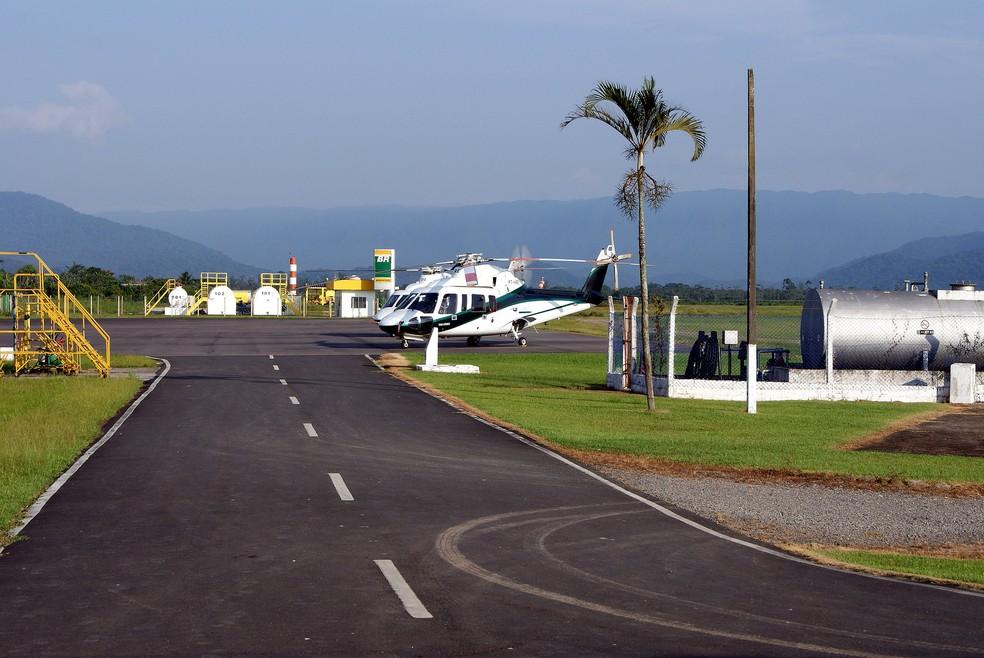 Aeroporto de Itanhaém, SP, que retomar atividades offshore para exploração de petróleo  — Foto: Divulgação/Prefeitura de Itanhaém