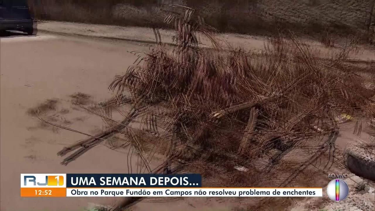 Obra no Parque Fundão em Campos não resolveu problema de enchentes