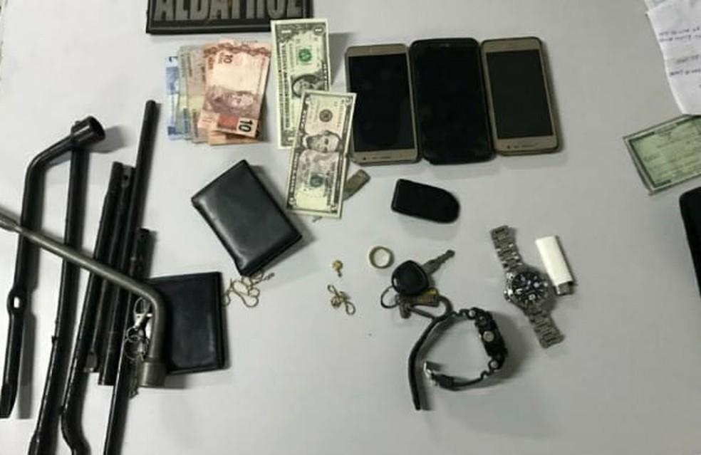 Material apreendido com o três suspeitos de furtar veículos em São Luís — Foto: Divulgação / Polícia Militar