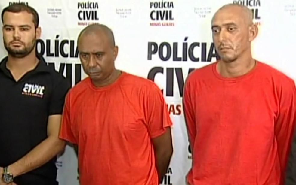 Matuzalém Ferreira Junior e o ex-funcionário dele Antônio Moreira Pires, o Pedrão — Foto: Reprodução/EPTV
