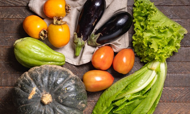Alimentos orgânicos são vendidos em cestas pela Orgânicos in Box