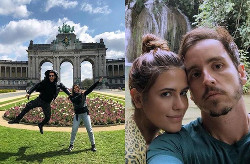 Antonia e Wagner adorar viajar e contam que já pensaram em se casar em algum destino especial — Foto: Reprodução/Instagram