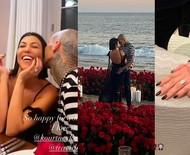 Kim Kardashian compartilha detalhes do anel de noivado que irmã Kourtney ganhou de Travis Barker