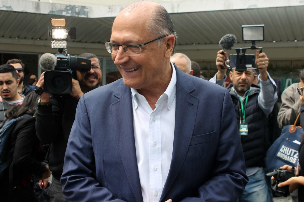 Alckmin em campanha em SP (Foto: Johnny Morais/Futura Press/Estadão Conteúdo)