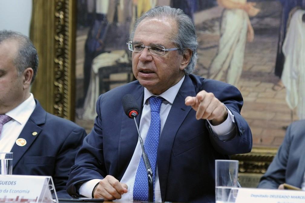 Ministro da Economia, Paulo Guedes, participa de debate na Câmara dos Deputados — Foto: Cleia Viana/Câmara dos Deputados