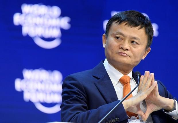 Jack Ma, do Alibaba, durante o Fórum Econômico Mundial em 2018 (Foto: EFE/ Laurent Gillieron)