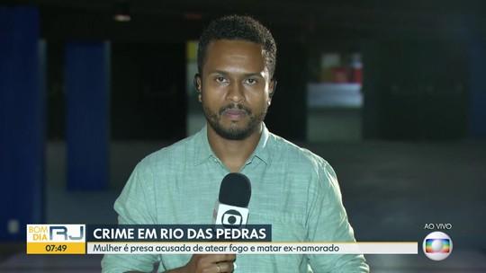 Mulher acusada de atear fogo no ex- namorado, em Rio das Pedras, é presa