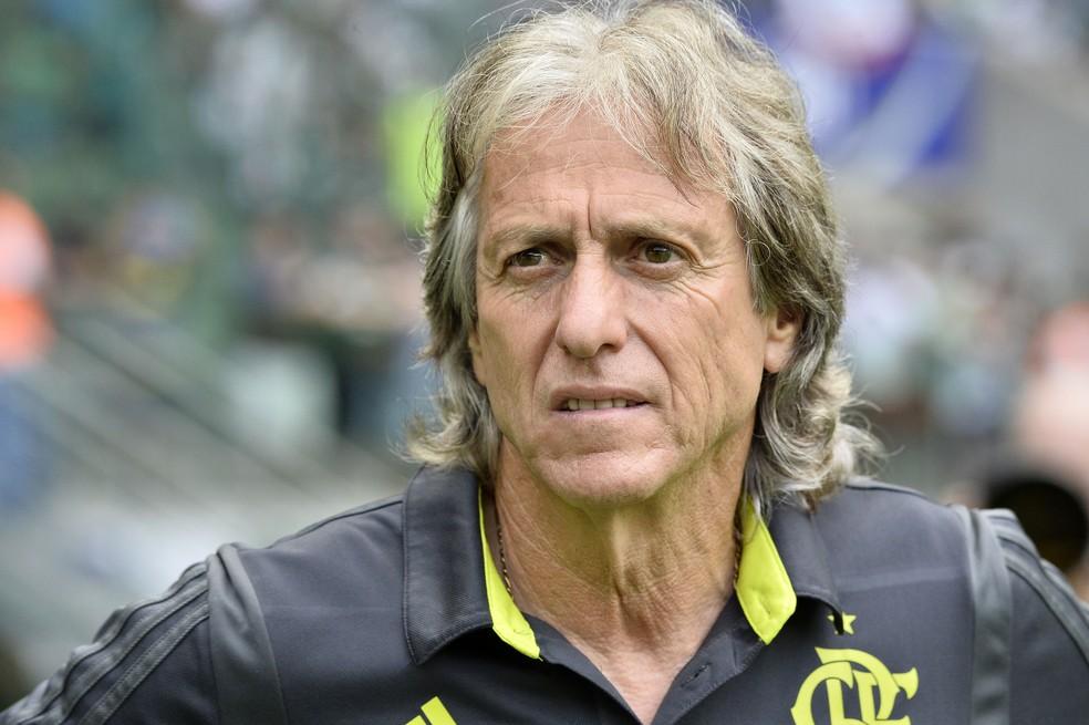 Jorge Jesus, técnico do Flamengo — Foto: Marco Ribolli