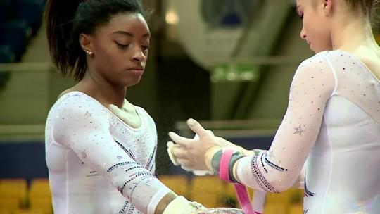 Simone Biles volta com tudo para as competições de ginástica e diz estar ainda melhor