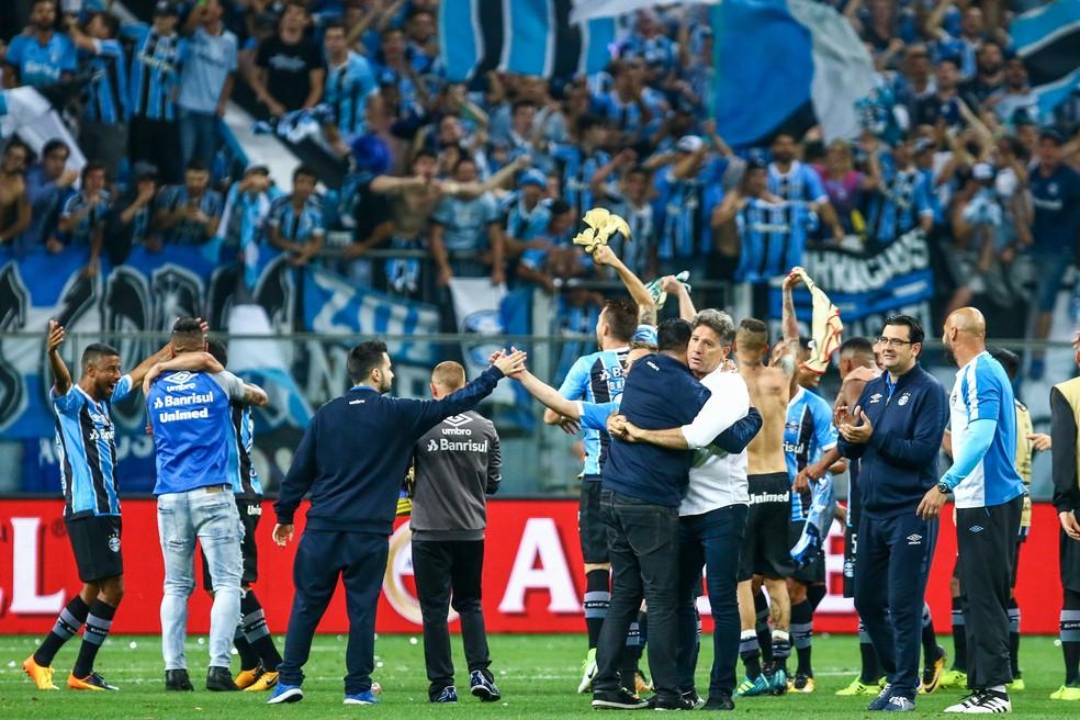 Renato lidera Grêmio para mais uma final 10 anos depois (Foto: Lucas Uebel / Grêmio, DVG)