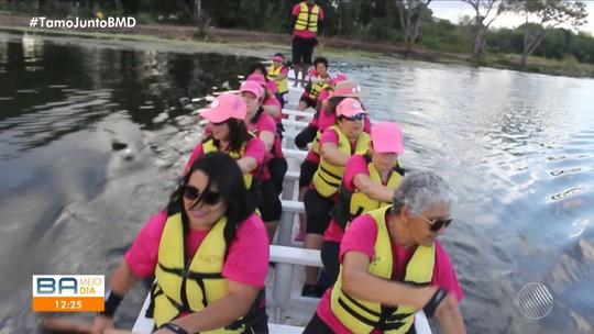 Conheça mulheres do norte do estado que superaram o câncer de mama com a ajuda do remo