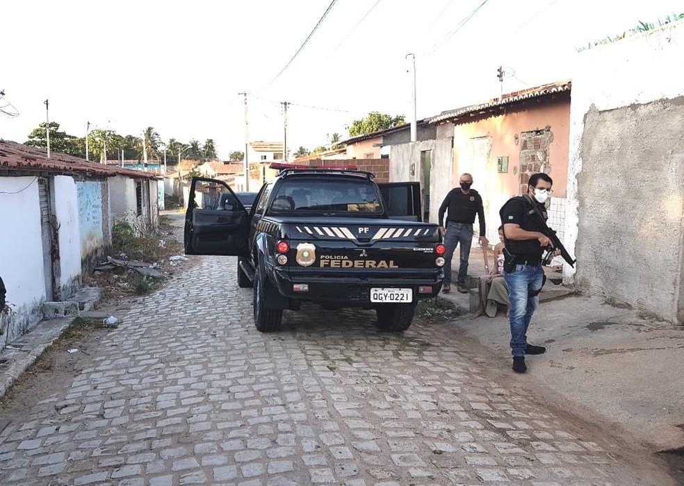 PF cumpre mandados no RN e na PB em operação de combate ao tráfico interestadual de drogas — Foto: Polícia Federal/Divulgação