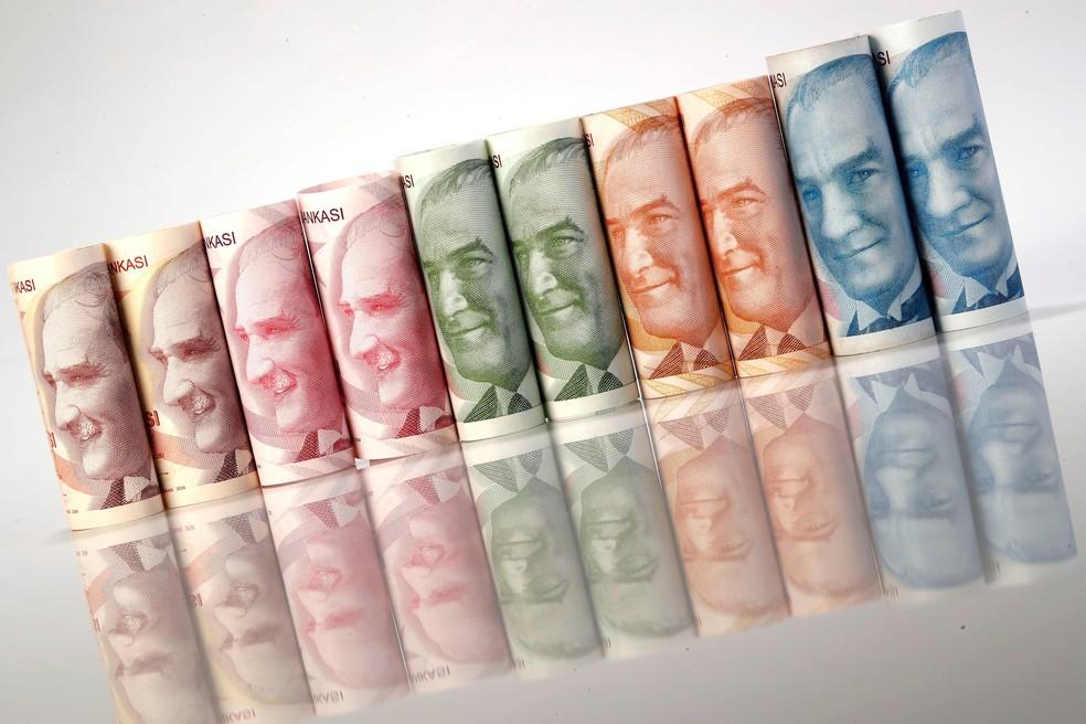 -  Lira turca tem forte desvalorização e registra novo mínimo frente ao dólar  Foto: Murad Sezer/Reuters