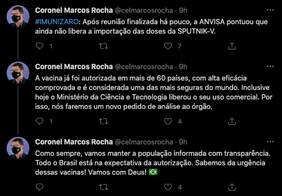 Governador de Rondônia diz que fará um novo pedido de análise à Anvisa — Foto: Reprodução/Redes Sociais
