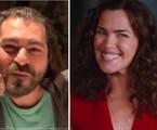 Thiago Lacerda e Ana Paula Arósio em fase atual | Reprodução e Reprodução/Bradesco