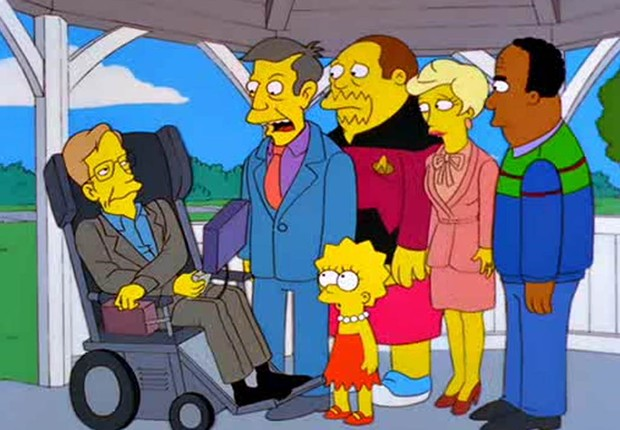Stephen Hawking apareceu em episódio do desenho (Foto: Reprodução)
