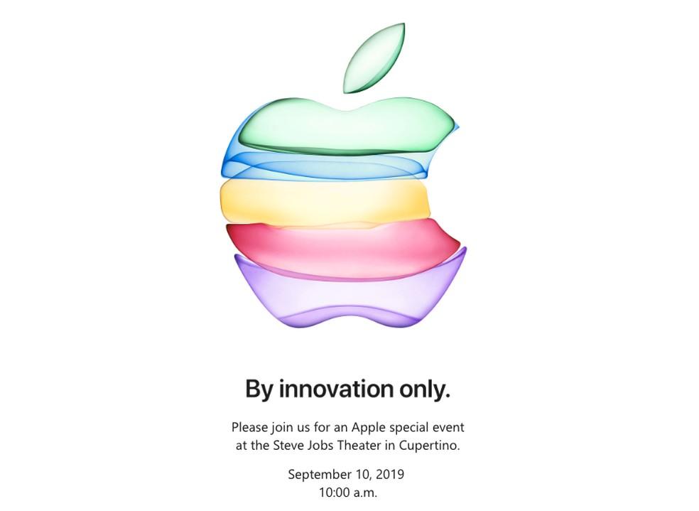Convite para evento de lançamento do iPhone 11 — Foto: Reprodução/Apple