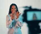 Isabel Fillardis nos bastidores das gravações do lyric video da sua primeira canção solo | Divulgação