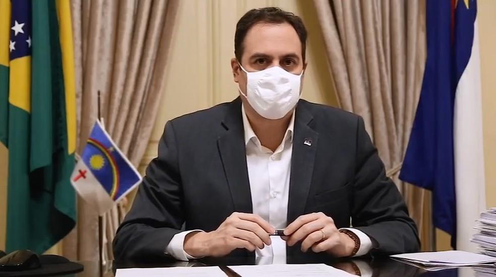 Paulo Câmara (PSB) anunciou redução no preço do gás — Foto: Governo de Pernambuco/Divulgação