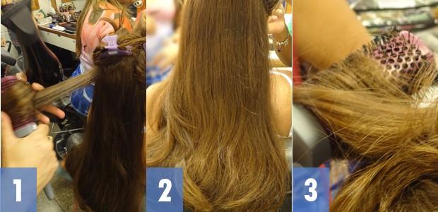Passo a passo cabelo clara (Foto: Em Família/TV Globo)