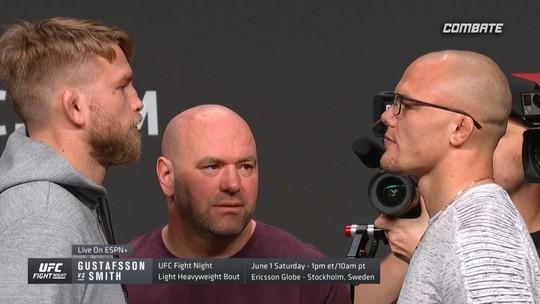 Encarada entre Gustafsson e Smith