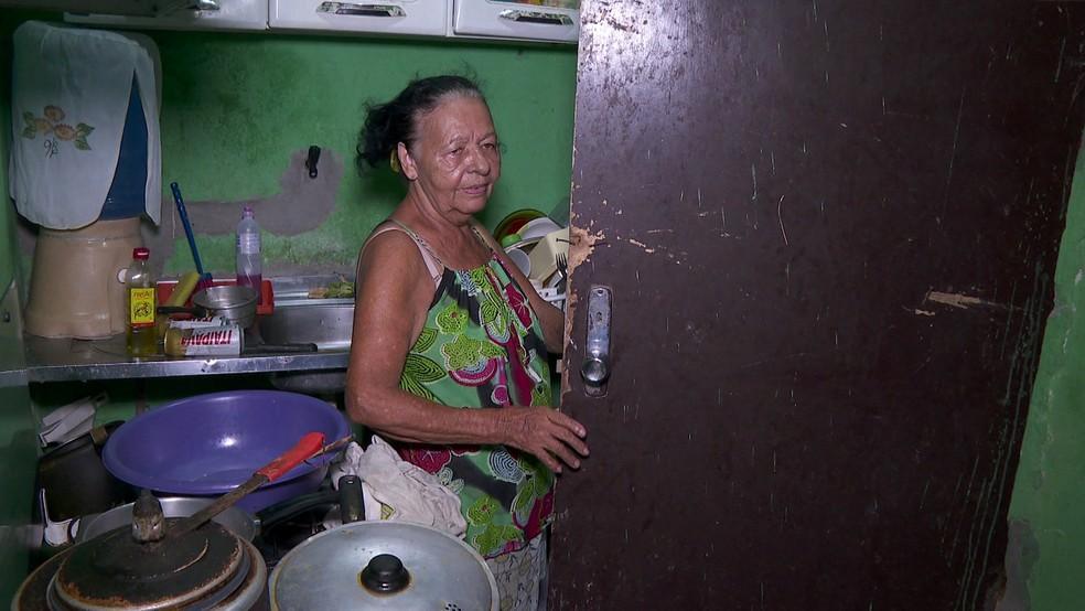 Ex-moradora do Holiday conseguiu alugar casa em uma comunidade próxima, também na Zona Sul do Recife — Foto: Reprodução/TV Globo