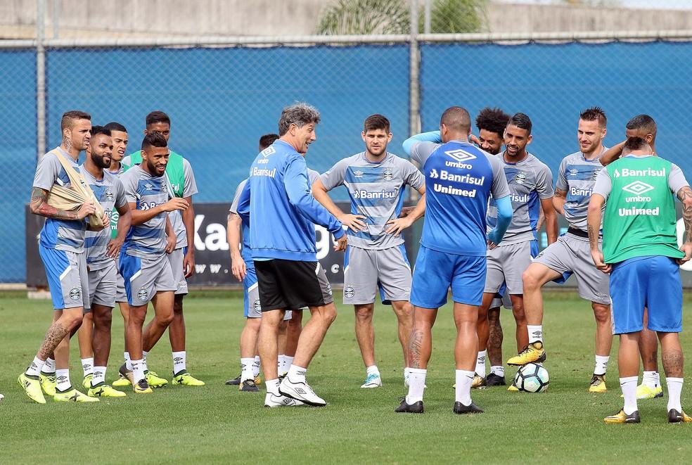 Renato conta com todo o grupo do Grêmio à disposição para a final (Foto: Lucas Uebel/Divulgação Grêmio)