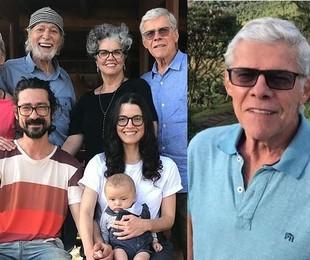 José Mayer e a família na Serra Fluminense | Reprodução