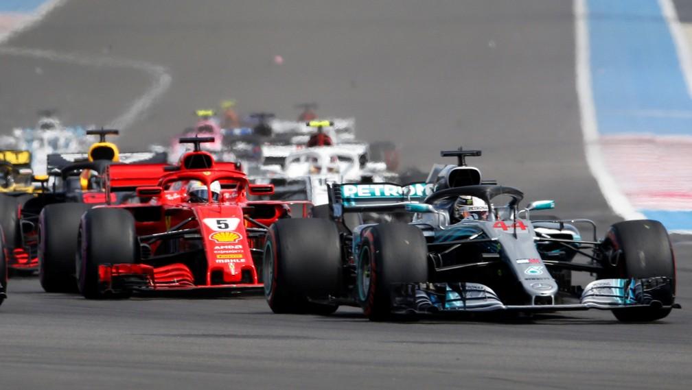 Largada GP da França Fórmula 1 (Foto: REUTERS/Jean-Paul Pelissier)