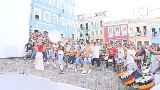 Claudia Leitte grava clipe da música 'Saudade' no Centro Histórico de Salvador