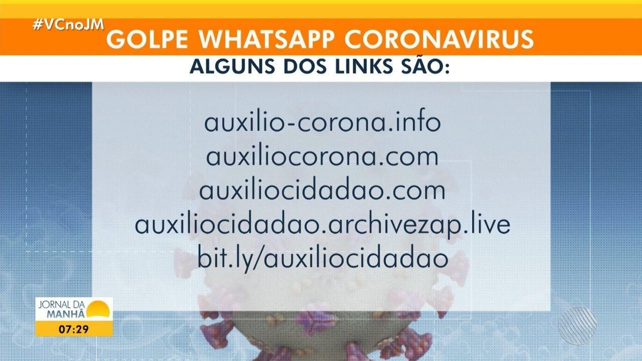 Grupo utiliza pandemia do coronavírus para aplicar golpe por meio de app de mensagens na BA