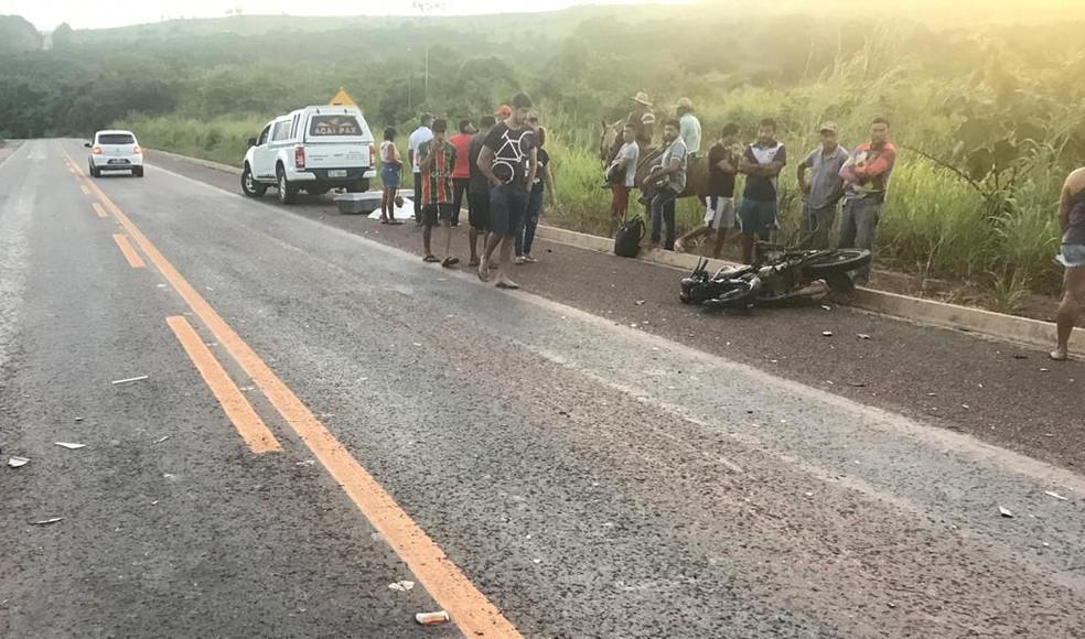 Acidente aconteceu em Açailândia, na altura da localidade Novo Bacabal — Foto: Divulgação/Polícia Rodoviária Federal