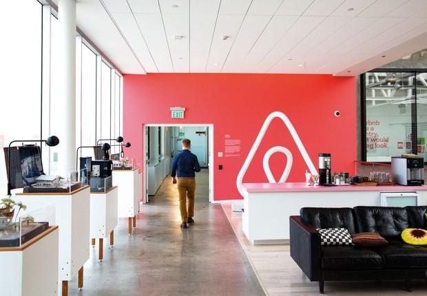 Escritório da Airbnb (Foto: Divulgação)