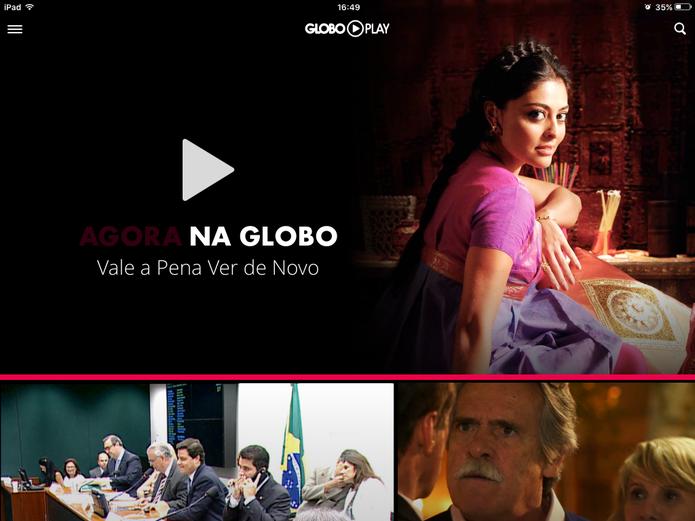 Globo Play traz programas da Rede Globo para o seu smartphone, tablet e smart TVs (Foto: Reprodução/Elson de Souza)