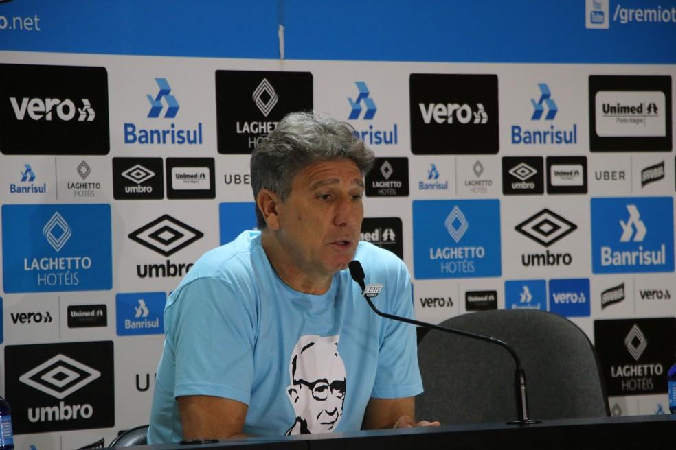 Renato Gaúcho, técnico Grêmio — Foto: Eduardo Moura
