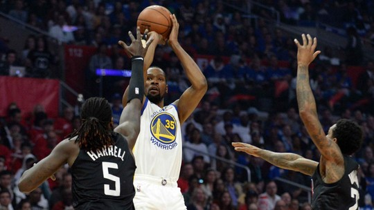 Clippers falham no último quarto, e Warriors vencem com show de Durant e Klay Thompson