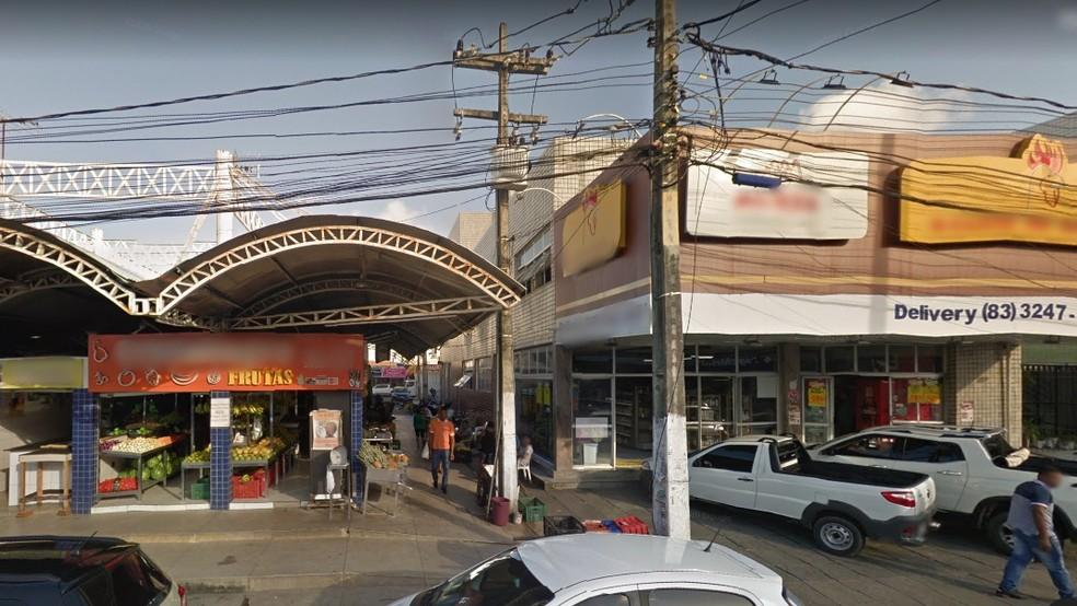 Mercado Público de Tambaú, em João Pessoa — Foto: Reprodução/Google Street View