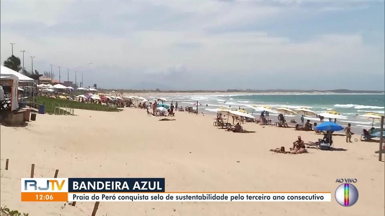 Praia do Peró, em Cabo Frio, conquista selo de sustentabilidade pelo terceiro ano seguido