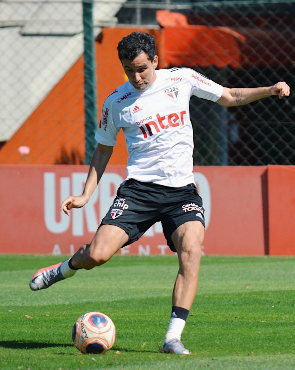 Pablo voltou bem da paralisação do futebol — Foto: Rubens Chiri / saopaulofc.net