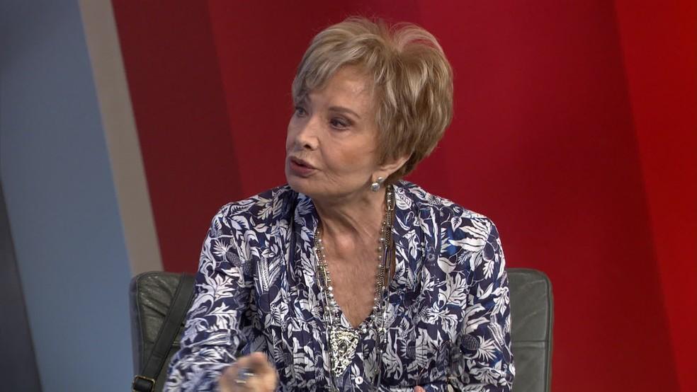 Glória Menezes teve melhora em quadro clínico (Foto: Reprodução/GloboNews)
