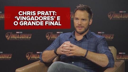 'Vingadores: Guerra Infinita' encerra 10 anos de histórias da Marvel: 'É o grande final', diz Chris Pratt