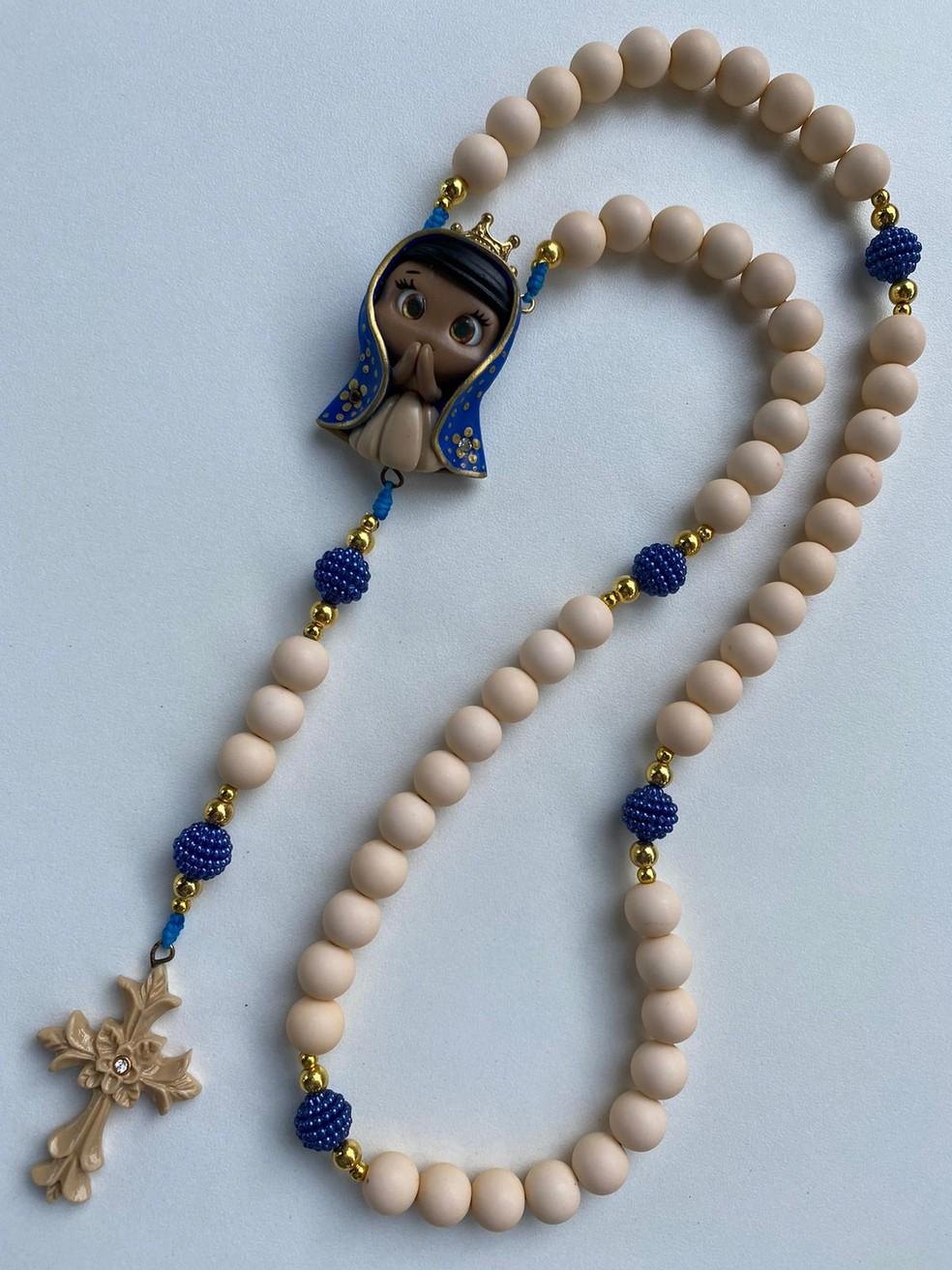 Terço de Nossa Senhora Aparecida é um dos mais pedidos, diz professora  — Foto: Arquivo pessoal