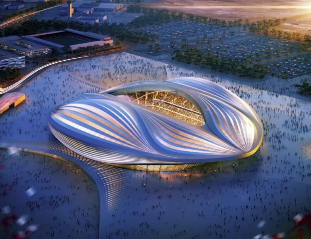 Estádio Al-Wakrah tem design assinado por Zaha Hadid (Foto: Divulgação)