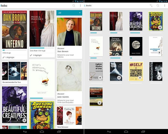 Kobo é um app de leitura bastante completo (Foto: Divulgação/Kobo)