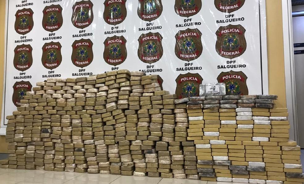 Total de 488,2 kg de cocaína são apreendidos em Serra Talhada — Foto: Polícia Federal/Divulgação