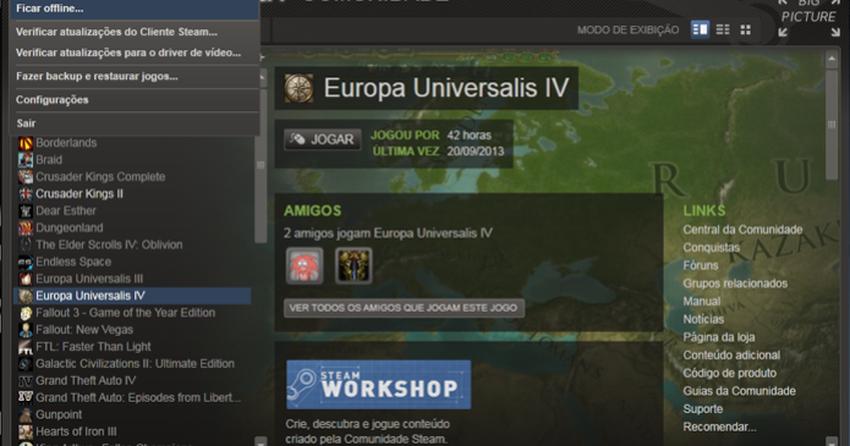 Steam: como usar o serviço no modo Offline